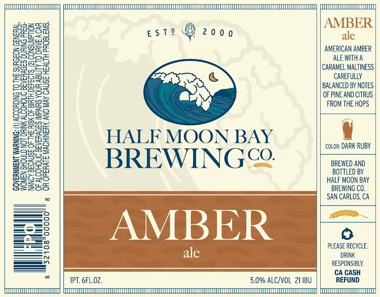 Logo of Half Moon Bay Brewing Co. Amber Ale