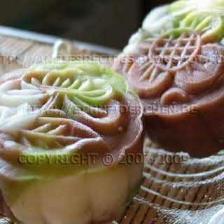 Chilled Ping Pei Mooncakes / 花色冰皮月饼.