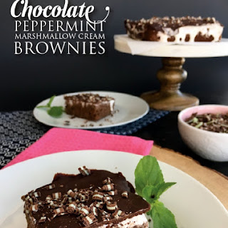 Chocolate Peppermint Marshmallow Cream Brownies