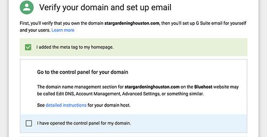 Tên miền được xác minh cho địa chỉ email chuyên nghiệp với G Suite và Gmail