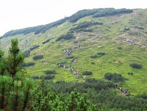 Photo: 20.Nasza grupa pokonuje stromy stok.