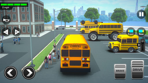 Super High School Bus Driving Simulator 3D - 2020 2.5 screenshots 1