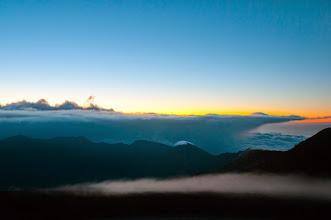 Photo: Sunrise from the summit of Haleakala.