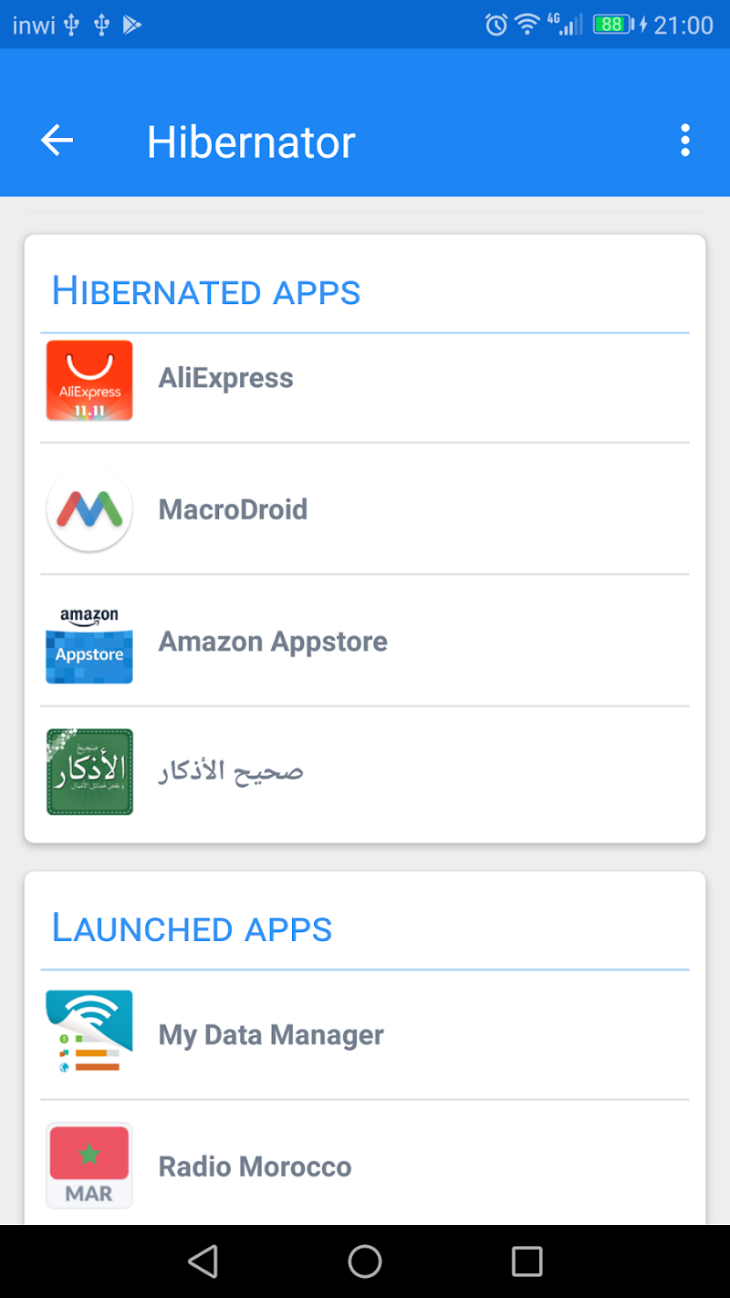 Hibernator -  Hibernate apps & Save battery Screenshot 1