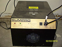 Sump pro front view