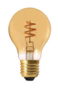 PR Home Elect Spiral LED Filament E27 Normal 4W Guld - lavanille.com