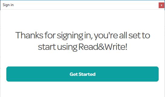 Sign in success