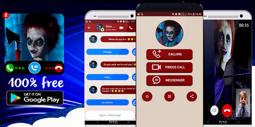 scary glen doll video call and chat simulator App Report on