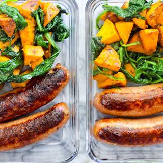 Meal Prep Sausage and Veggie Breakfast.