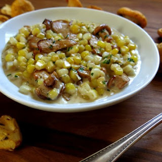 Creamed Chanterelles with Sweet Corn and Chervil