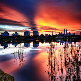 Sunday Evening by Danial Abdullah - Landscapes Waterscapes