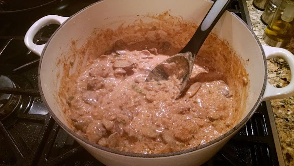 Add the seasoning packet to the pot per the seasoning packet instructions and the...