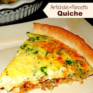 Artichoke And Pancetta Quiche.