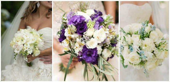 Свадебные букеты из эустом