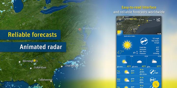 WeatherPro Android App Screenshot
