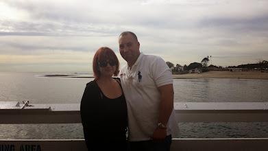 Photo: Scott Binsack and Tammy Calhoun 17 Month Affair. Meeting in Malibue