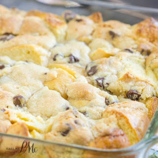 Chocolate Chip Cookie Dough Bread Pudding.