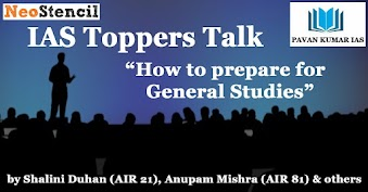 "IAS Toppers Talk on  ""How to prepare General Studies"" by Shalini Duhan (AIR 21), Anupam Mishra (AIR 81) & Others"