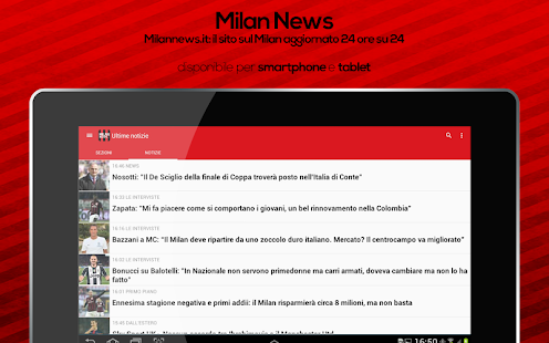 Milan News- screenshot thumbnail