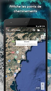 GPX Viewer - Pistes, routes et points – Vignette de la capture d'écran