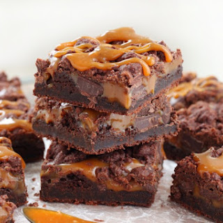 Chewy Chocolate Caramel Bars