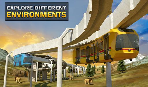 Elevated Train Driving Simulator: Sky Tram Driver apktram screenshots 21