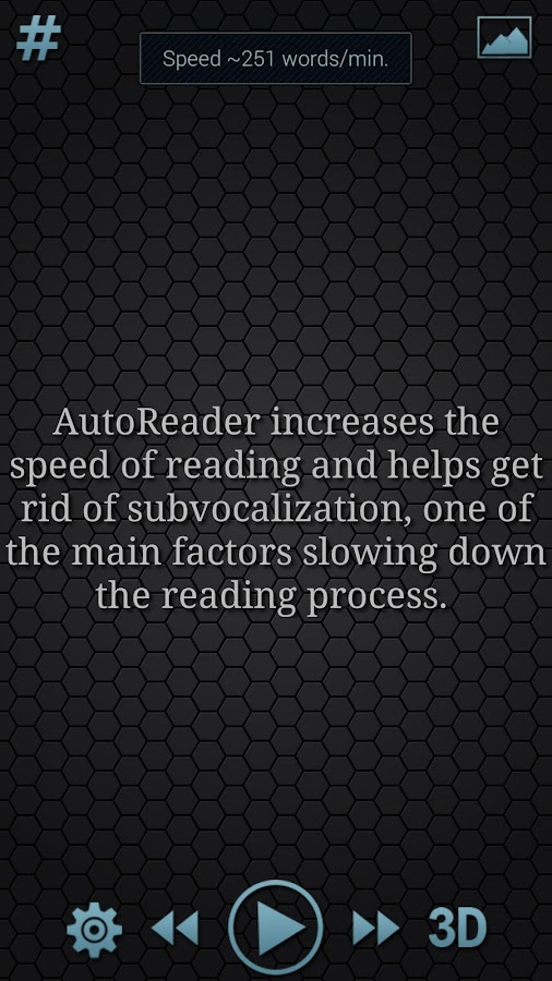 AutoReader 3D free- screenshot