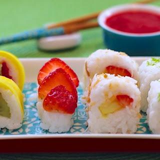 Fresh Fruit Sushi Dessert (Vegan & Dairy-Free Recipe).