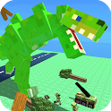 Blocky Titan Rex: City Rampage icon