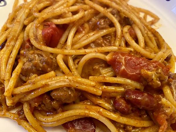 Easy Chili Spaghetti