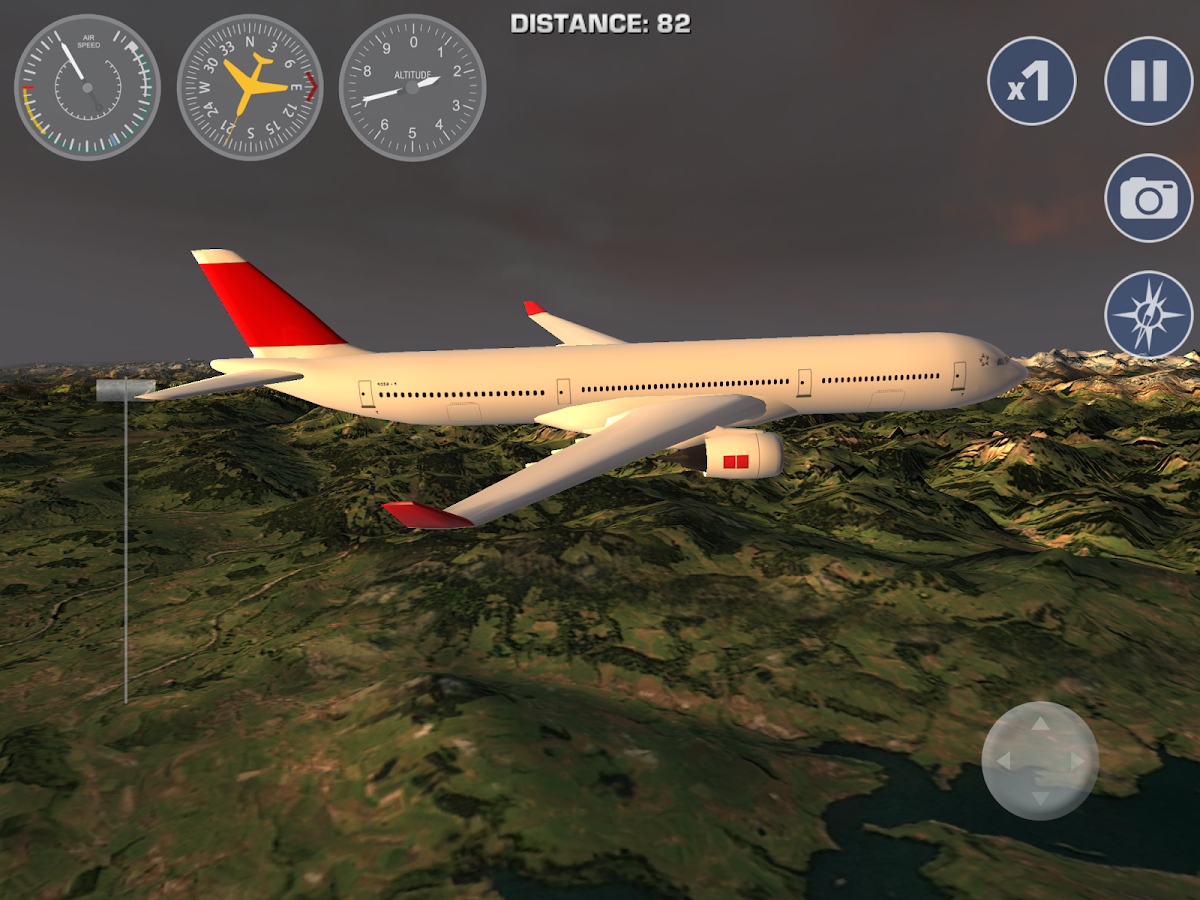 Airplane Fly the Swiss Alps- screenshot