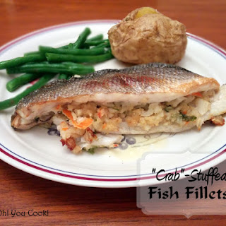 """Fish Fillets with """"Crab"""" Stuffing."""