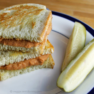 Grilled 'Cheese' and Tomato Soup Sandwich [Vegan, Gluten-Free]