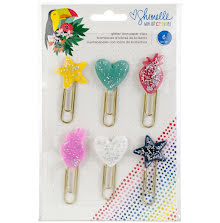 Shimelle Glitter Paper Clips 6/Pkg - Box Of Crayons