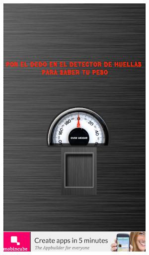 Detector de peso Broma