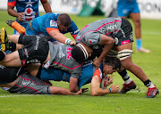 Chris Smith of the Vodacom Bulls scores a try during the Super Rugby Unlocked match between Vodacom Bulls and Phakisa Pumas at Loftus Versfeld on November 21, 2020 in Pretoria, South Africa.