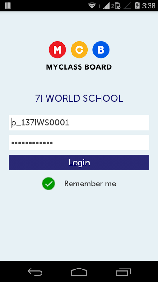MyClassBoard Parent Portal- screenshot