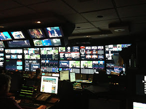 Photo: Inside the control room in preparation for The Last Word with Lawrence O'Donnell