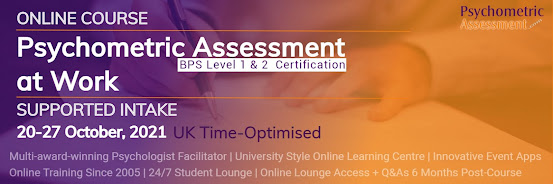 Psychometric Assessment at Work / BPS Level 1 & 2 Test User / Express Online Supported Intake