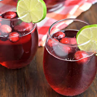 Cranberry Ginger Ale Punch.