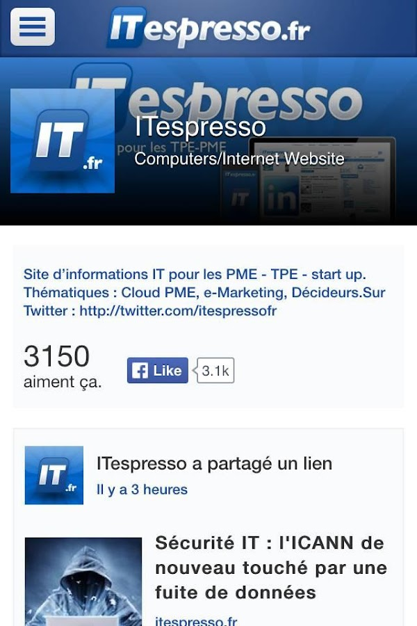 Actualité Tech - ITespresso.fr- screenshot