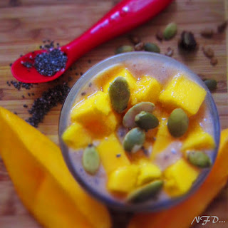 Mango Chia Seed Overnight Pudding.
