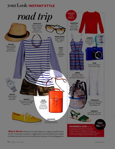 Photo: InStyle (June 2012)  Alto Wine Bottle Picnic Tote http://www.dooney.com/db/ASIFB-INS0612 -