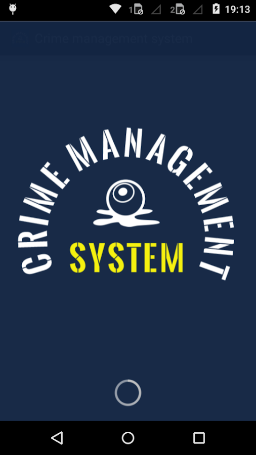 Crime Management System- screenshot