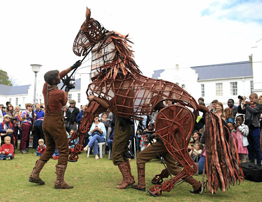 Life-size: The Handspring Puppet Company's work includes the renowned theatre production of War Horse. They created full-scale horses galloping on stage, with flanks, hides and sinews, built of steel, leather and cables. Its puppetry and theatre extends from world stages to the rural areas, including the Little Karoo. Picture: JACKIE CLAUSEN/GILLIAN MCAINSH