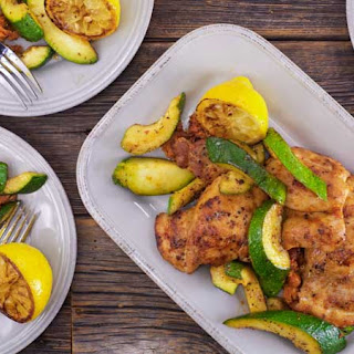 Smoky Chicken Thighs and Zucchini.