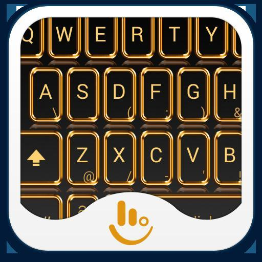 Golden Crystal Keyboard Theme