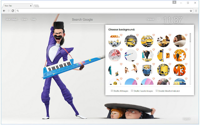 Despicable Me 3 Backgrounds HD Custom New Tab