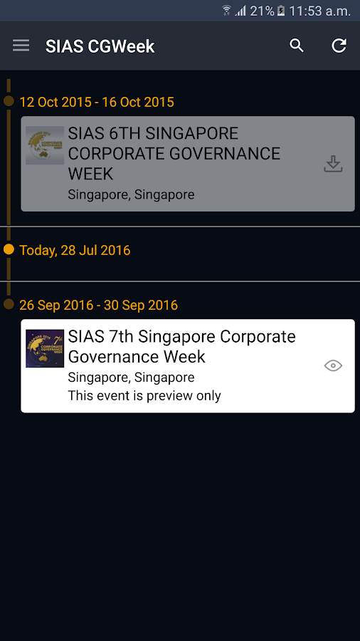 SIAS 7th Singapore CG Week- screenshot