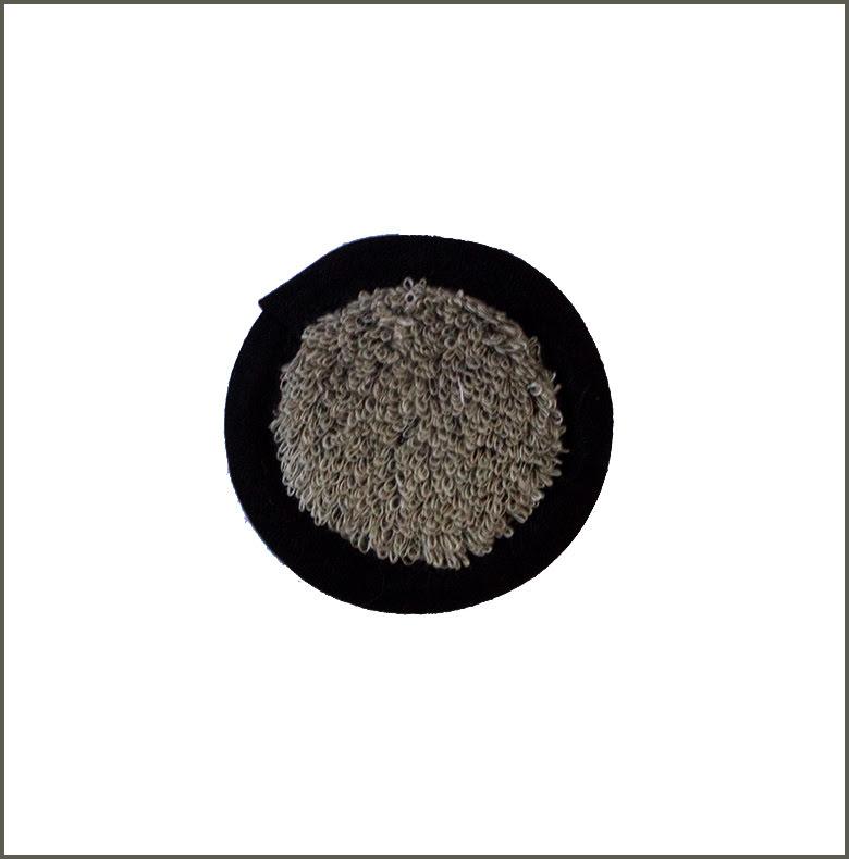 Pad Linnefrotté natur-svart 9 cm
